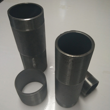 Double female carbon steel NPT threaded hot dipped galvanized sch 40 welded steel pipe nipple