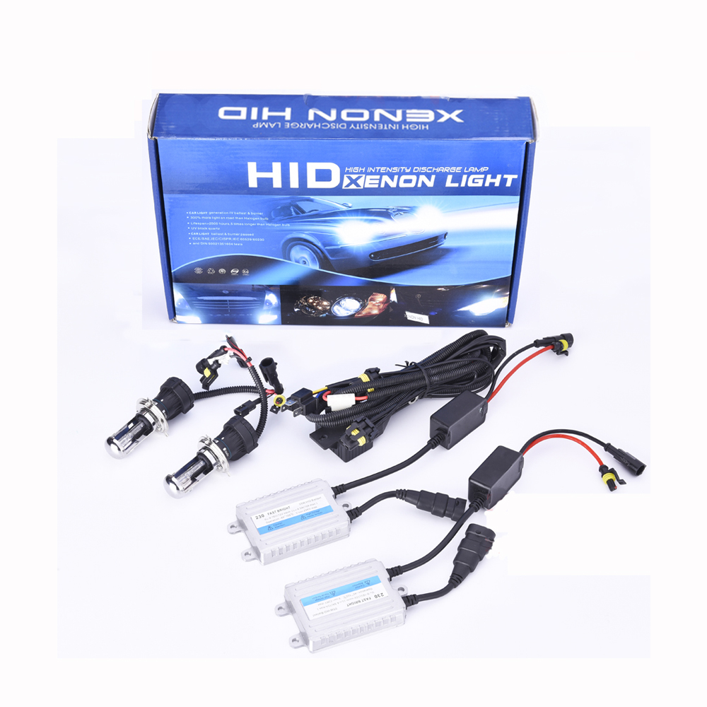 55w fast start xenon lamp H1 H3 H4 H7 9004 9005 digital ballast Hid Kit