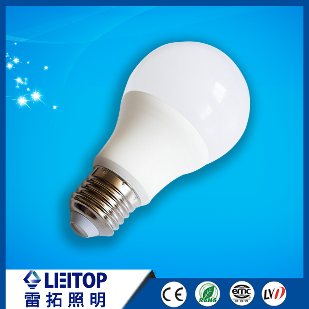 Hot sale 7w 9w 12w E27 E14 B22 Led Bulb A60 light LED lamp from LED factory
