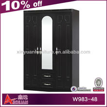 W983-48 ecnomic bedroom cheap wardrobe interior design
