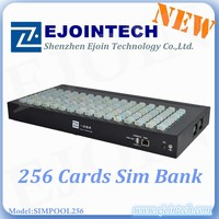2015 hotsale Ejoin SIM Pool 128/256,roip gateway remote manage device of sim cards,avoid sim blocking SIM box/bank