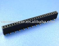 2.54mm female header,height~5.0mm,single row and smd