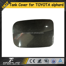 Carbon Fiber Car Gas Fuel Tank Cap Cover Door for TOYOTA alphard 2012