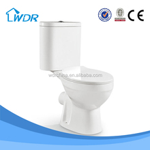 Two-piece p-trap sanitary ware ceramic France household toilet