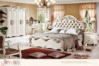 solid wood carving antique white bedroom furniture