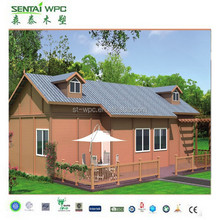 countryside villa made of wpc material/ waterproof and uv-resist wpc garden house