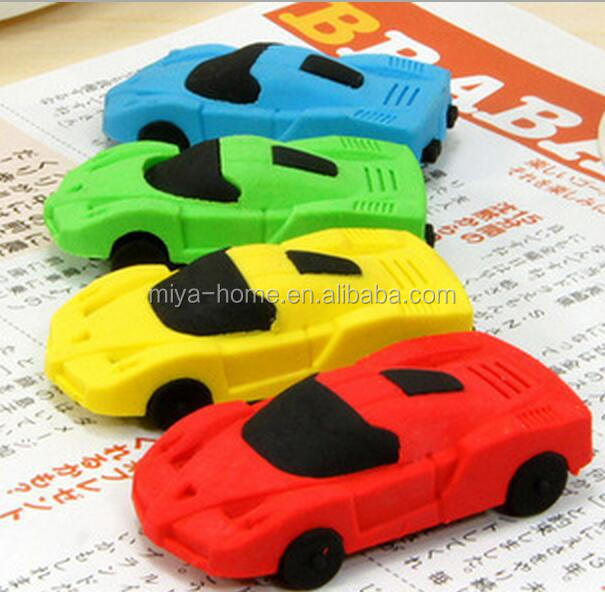 hot selling cheap car eraser / cute small car eraser / car eraser for student