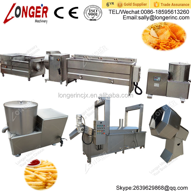 Good Performance Potato Chips French Fries Making Machines