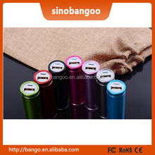 Factory Selling Mini Portable Mobile Phone Charger power banks 2600mah with LED light ODM / OEM Free Logo