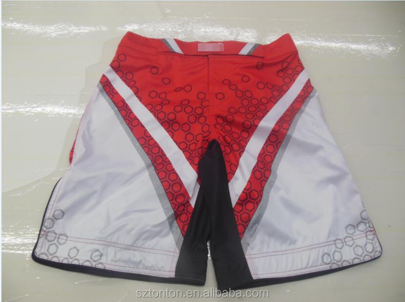 sublimation mma compression shorts