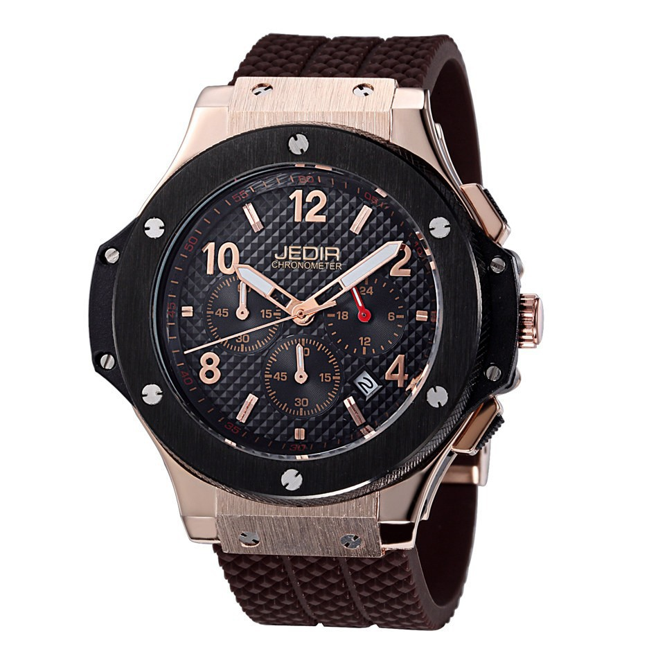 Top Brand JEDIR 2015 New Military Watches Casual Quartz Wrist Watches Luxury CHRONOGRAPH & 24 Hours Function Men Sport Watches