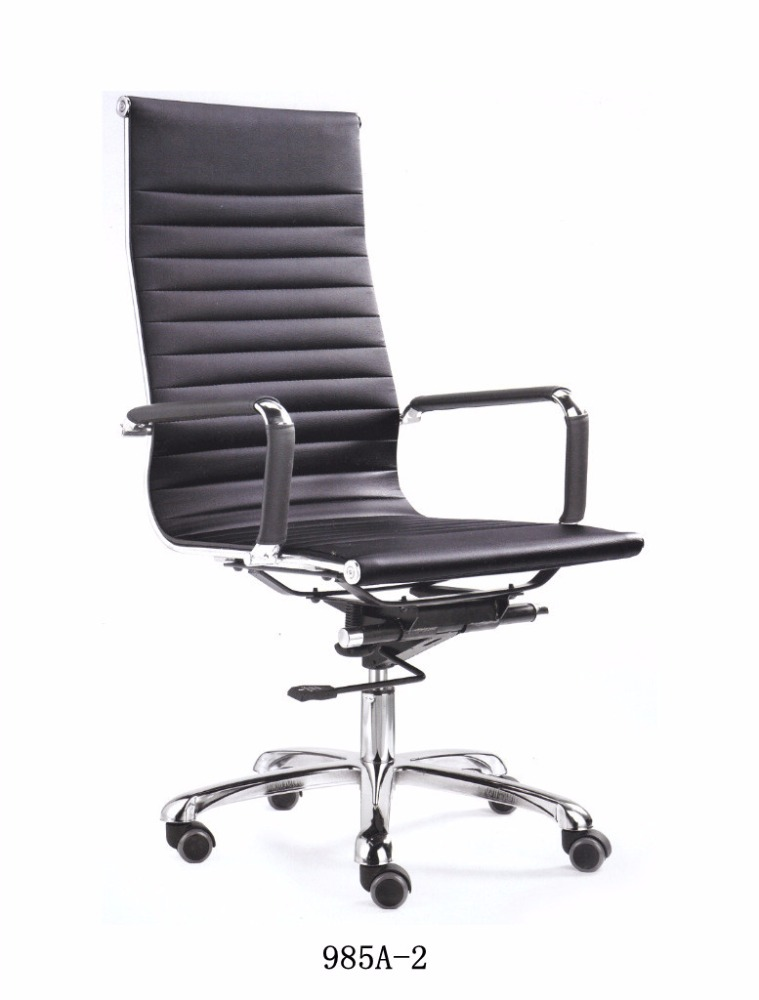 Aluminum High / Middle back leather Emes Boss Revolving Office Chair
