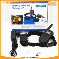 2016 new rechargeable and waterproof remote dog training collar TZ-PET998DR dog bark terminator