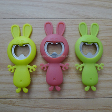 Rabbit and Devil shaped silicone rubber beautiful souvenir bottle opener