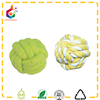woven cotton pet toy dog thrown toys green cotton string rope ball