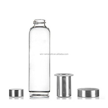 To Go Green 550ml Drink Glass Bottle With Stainless Cover