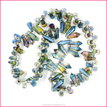 YGRTO-017 Clothing accessories cone shaped wholesale glass beads