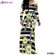 2017 Wholesale Women Black Stripe Simple One Piece Long Sleeve Maxi Dress