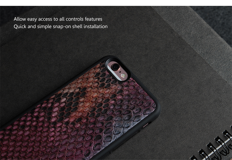 Premium pythons leather cover on phone cases for iphone 6/6S/6plus