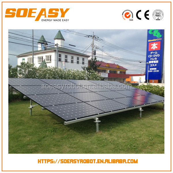 100 kw solar system with aluminum pv mounting structure or pv mounting support structure