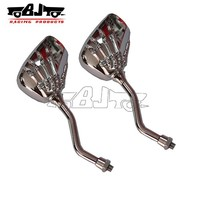 BJ-RM-020 Universal motorcycle skull claw hand rearview mirrors