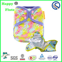 Happy flute baby cloth diaper cover reusable cloth diaper factory sale