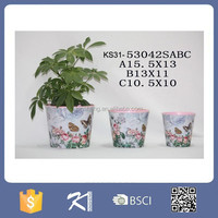 High Grade Flower Metal Pot Garden