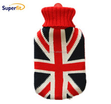 2 liter hot water bottle knitted cover with european style