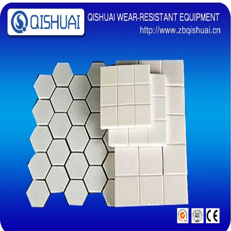 Competitive price al2o3 welded ceramic lining tile/brick
