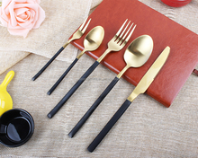 FDA approved food grade 18/8 stainless steel gold cutlery set