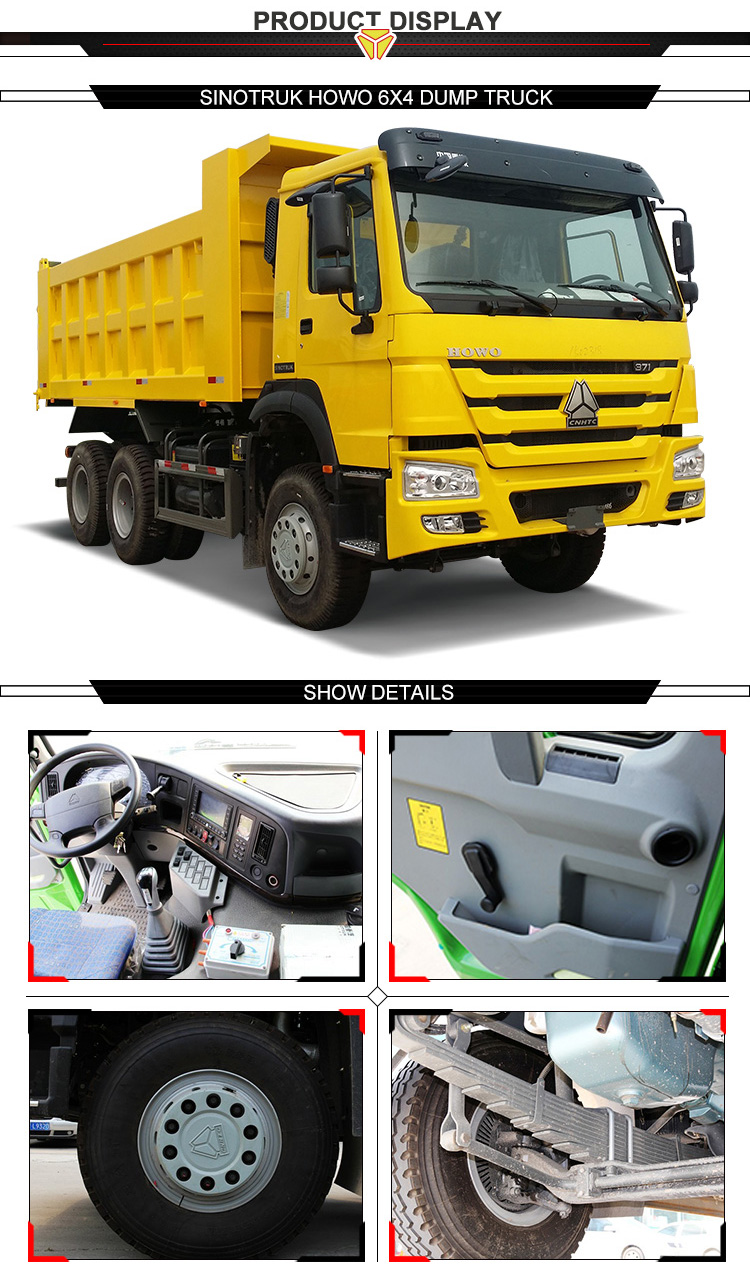 Alibaba China supplier standard howo dump truck for sale