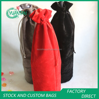 Round Velvet Drawstring Wine Pouches Whisky Black Label Collection Bags