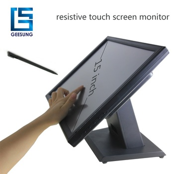 15 inch industrial LCD touch monitor USB resistive touch screen monitor