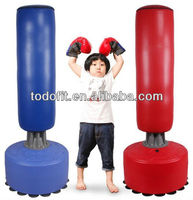 Factory customized kids water filled base inflatable free standing punching bag pvc boxing bags plastic bop bag for sale