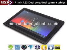 "Mini 7"" dual core tablet with wifi/ Resolution 800*480/Multi touch screen"