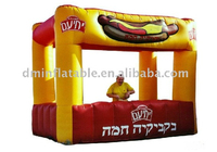 inflatable street food photo booth/inflatable advertising golden kiosk design