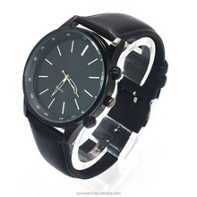 custom design alloy case winner watch men leather watch