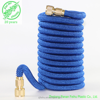 2017 new design Strong Fabric Garden Expandable Water Hose with Metal Quick Fitting and Crossover