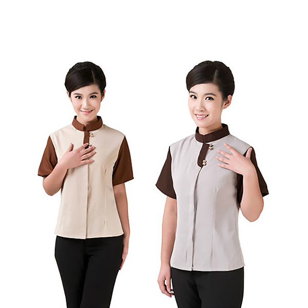 2014 popular design 100% cotton hotel ladys uniform hotel design uniform