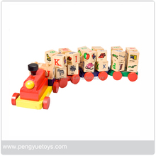 Alphabet Learning Educational Toys Wooden mini car toys