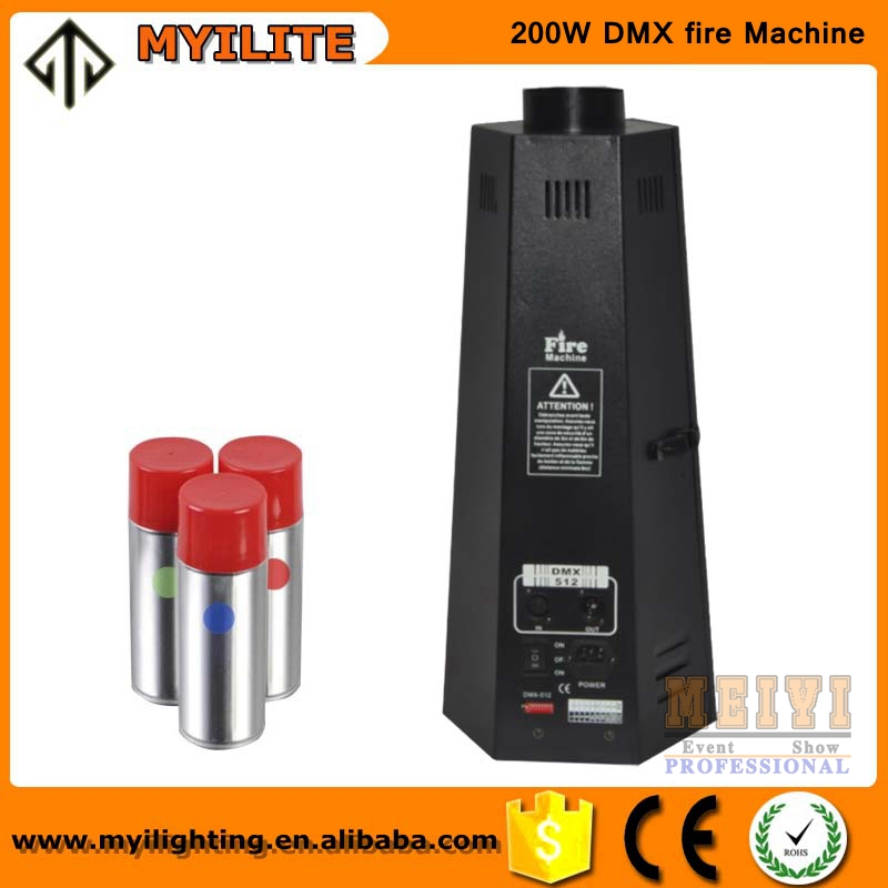 Hot 200W Stage/disco/dj/concert dmx flame machine spray fire machine