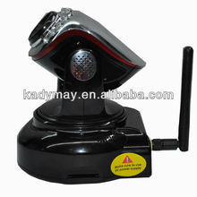 Modern& Adjustable high quality black mini wireless internet ip camera webcam cctv with Pan/Tilt,by best Manufacturer& Supplier
