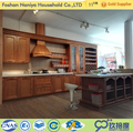 High quality american red oak solid wood ready made kitchen cabinets