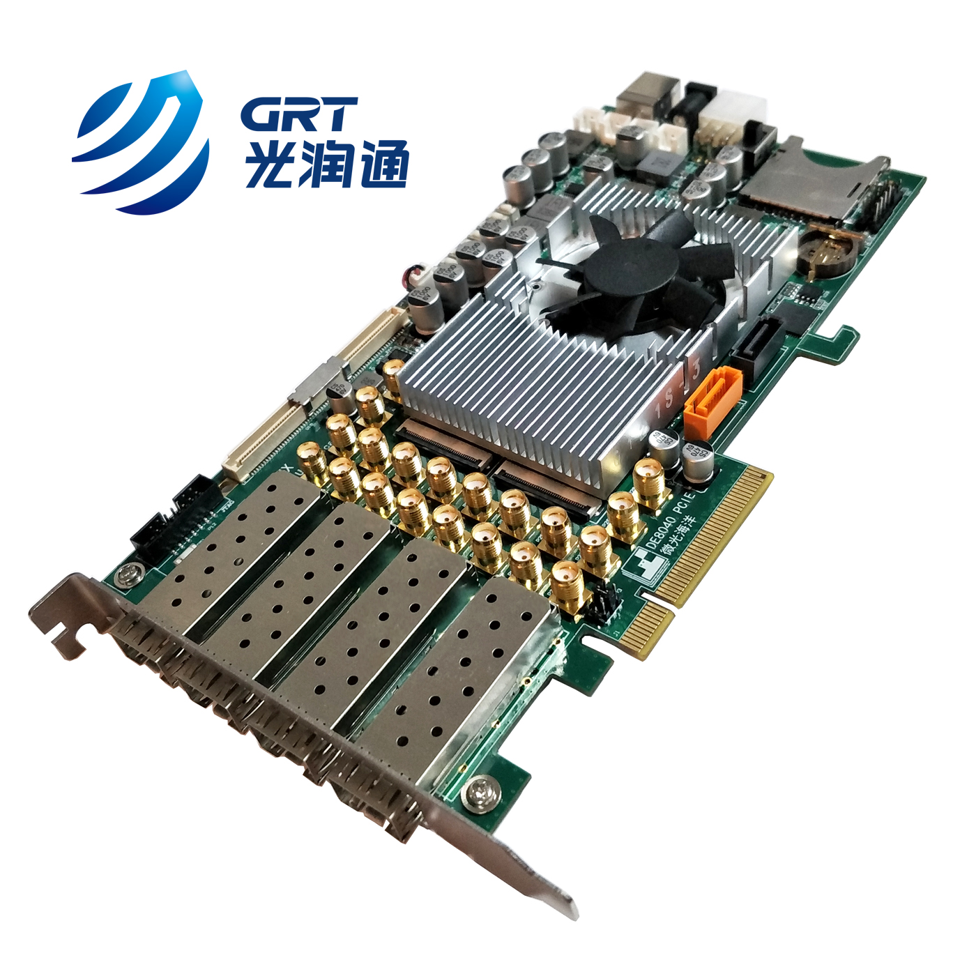 Xilinx's Kintex UltraScale FPGA controller chip PCIe 3.0 Development Board with 4 GTH