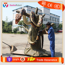 2016 new Recordable custom imitate alive large snake/giant replica for advertising