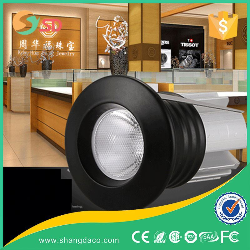 High Power led downlight adjustable 1w 3wfor cloth shop 1 watt recessed led mini downlight