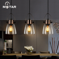 Hotel Lamps Industrial Glass Morden Pendant