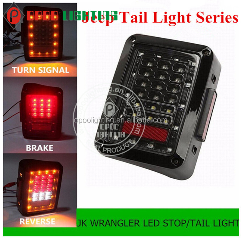 2016 12V LED Rear Tail Light 2007-2015 Euro US Jeep Led Tail Light
