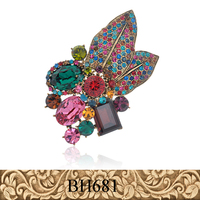 Fancylove Jewelry fashion double use pendant flower crystal multi-rhinestone brooch