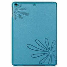 Fashion chinese style pu smart cover with glossy hard cover for ipad air custom leather case